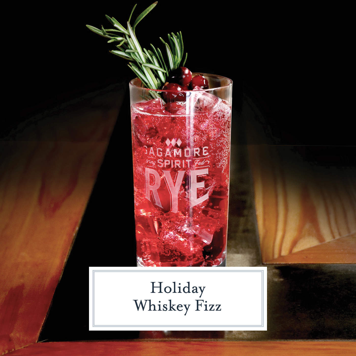 Holiday Whiskey Fizz is a bubbly holiday cocktail featuring Sagamore Spirits rye whiskey, club soda, cranberry syrup and lime juice. #whiskeycocktails #whiskey www.savoryexperiments.com