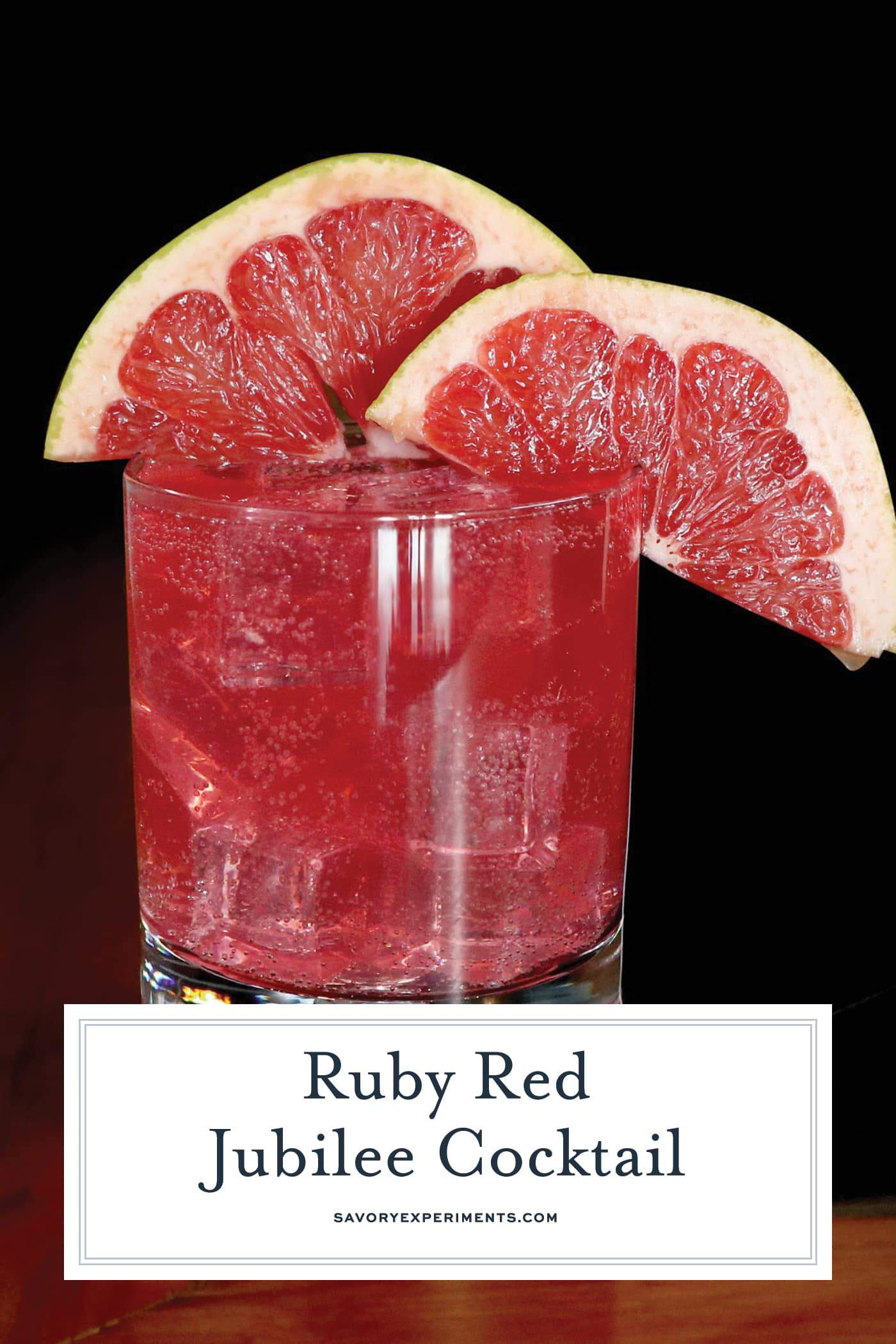 Ruby Red Jubilee Cocktail is the perfect holiday cocktail made with Sagamore Spirit rye whiskey, grapefruit and lime juice and cinnamon syrup. #whiskeycocktails www.savoryexperiments.com