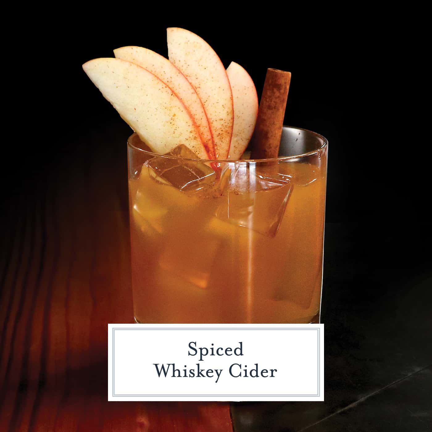 Spiced Whiskey Cider is the perfect fall cocktail using Sagamore Spirit rye whiskey, apple cider, lime juice and simple syrup. #whiskeycocktails www.savoryexperiments.com
