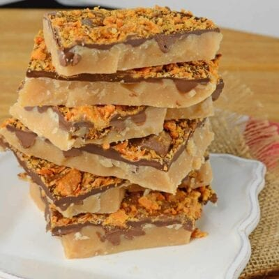 Candy Toffee is an easy holiday treat using only 6 ingredients and taking just 20 minutes!