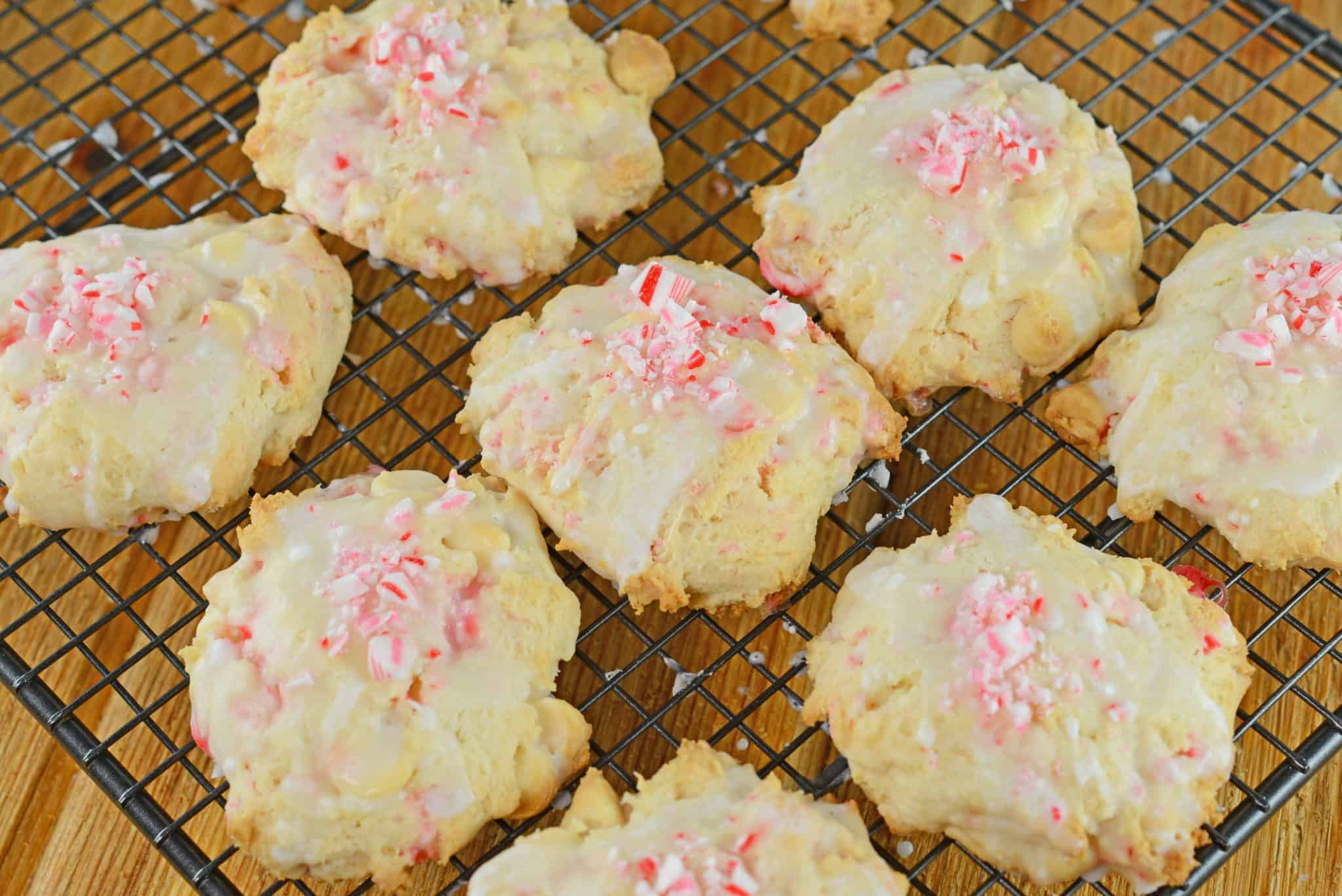 Peppermint Cake Mix Cookies only use 5 ingredients and are super soft and festive!