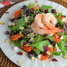 Cranberry Almond Salad is a quick yet tasty meal solution. Throw it together for a healthy quick dinner or lunch.