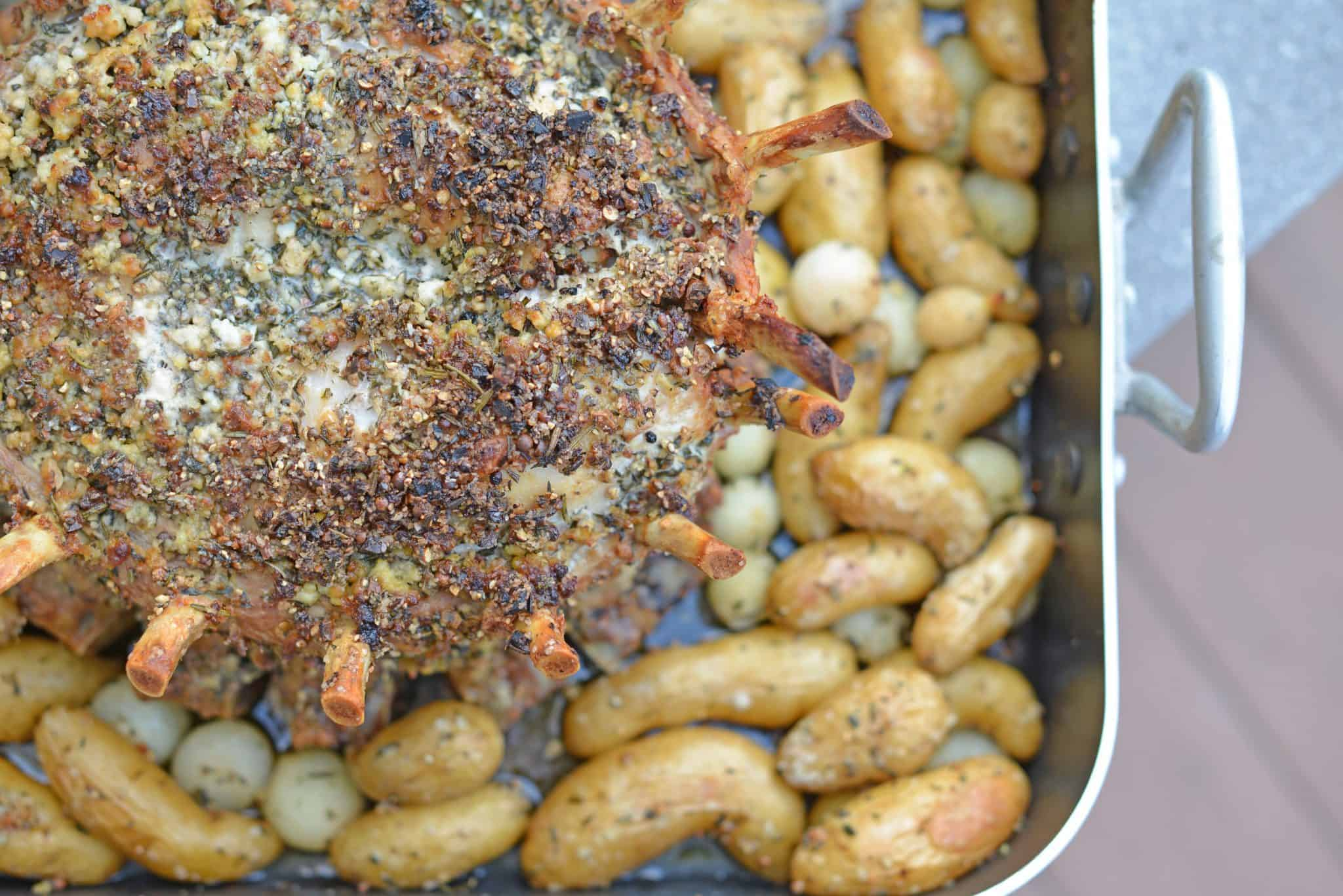 Crown Pork Roast is the perfect special occasion or holiday meal to serve for a crowd. Tasty and impressive presentation make this a winning pork recipe!