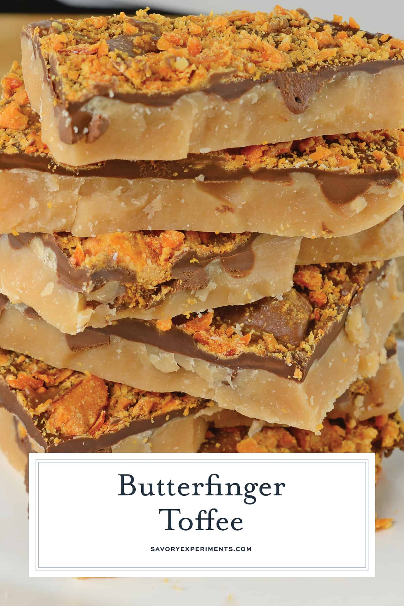 Candy Toffee is an easy holiday treat using only 6 ingredients and taking just 20 minutes! Make this easy toffee recipe for your holiday cookie tray! #buttertoffee #englishtoffee www.savoryexperiments.com