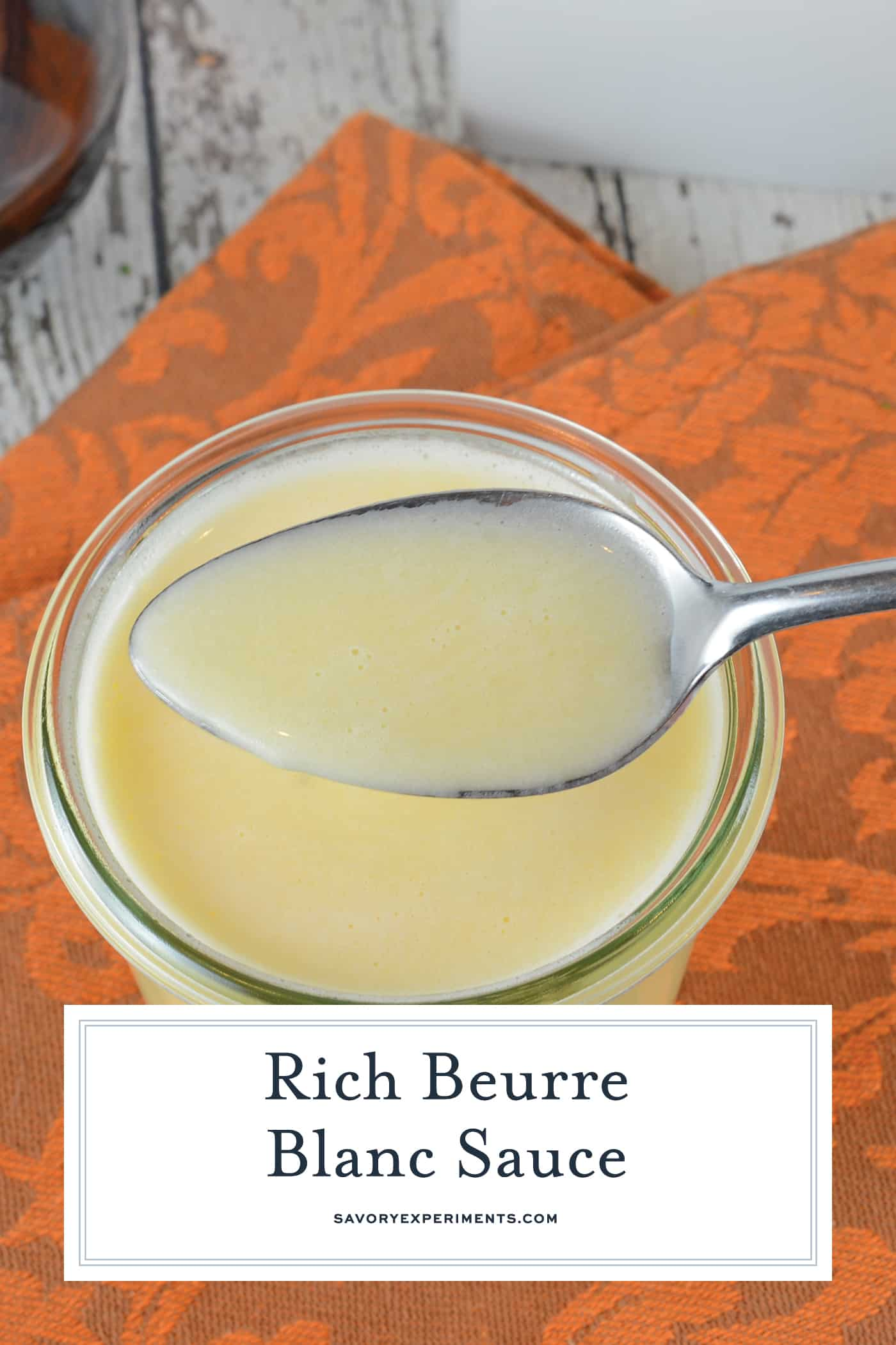 Beurre Blanc is a classic French sauce translated as