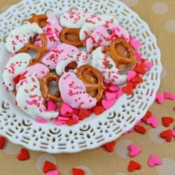 Chocolate Caramel Pretzels are an easy dessert recipe. Salty and sweet and decorated for just about any holiday, your guests will requests these over and over!