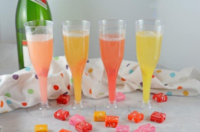 Starburst Champagne Cocktails