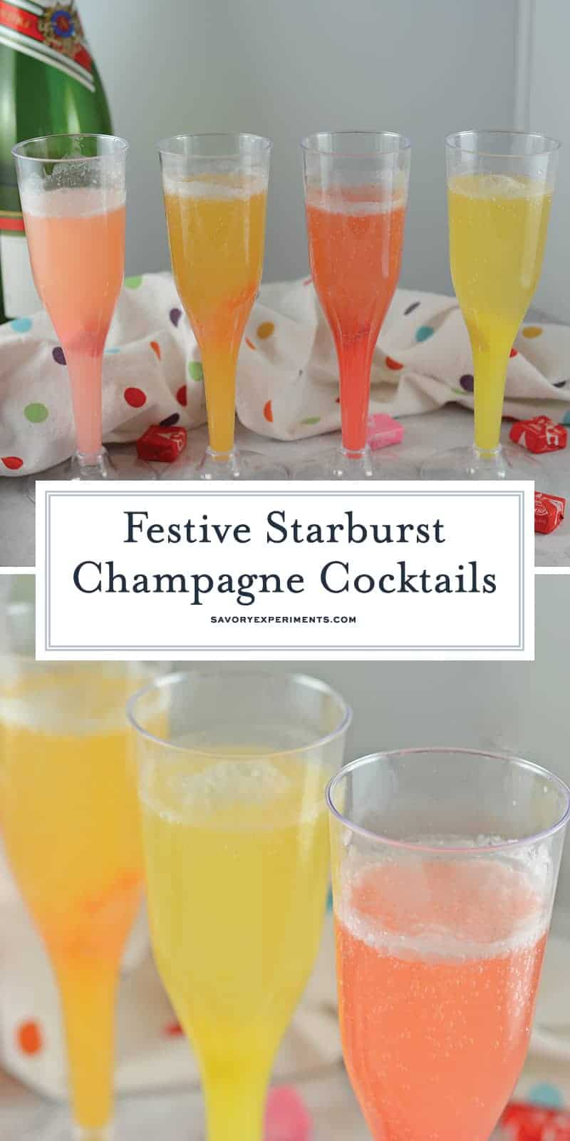 Starburst Champagne Cocktails - A Fun And Tasty Mocktail Recipe