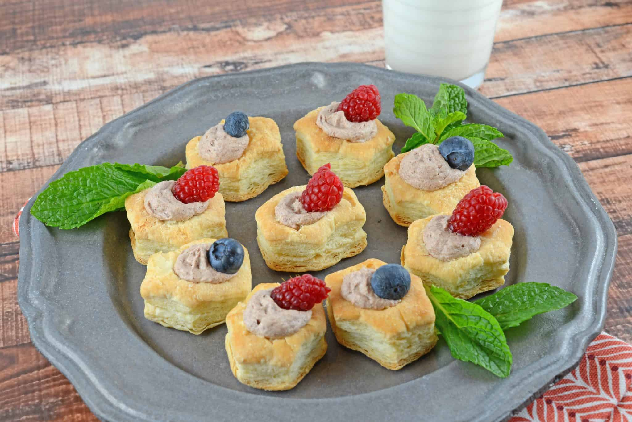 Chocolate Mousse Pastry Cups are a simple and easy dessert recipe perfect for making ahead. Ideal for dinner parties, birthday treats and Valentine's day dessert!