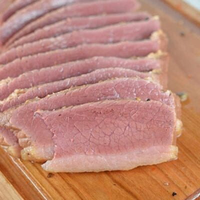 Homemade Corned Beef is simple to make, but takes about a week. The intense flavors and beautiful pink hue are worth the time and wait!