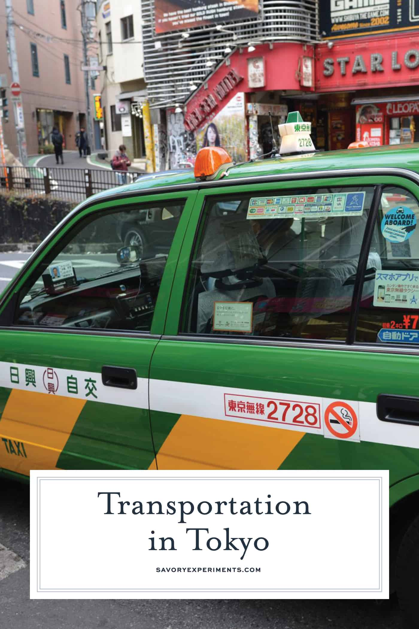 Your easy guide to transportation in Tokyo, Japan from walking, to buses, cabs, Uber, bike and the rails. #tokyo #japan www.savoryexperiments.com