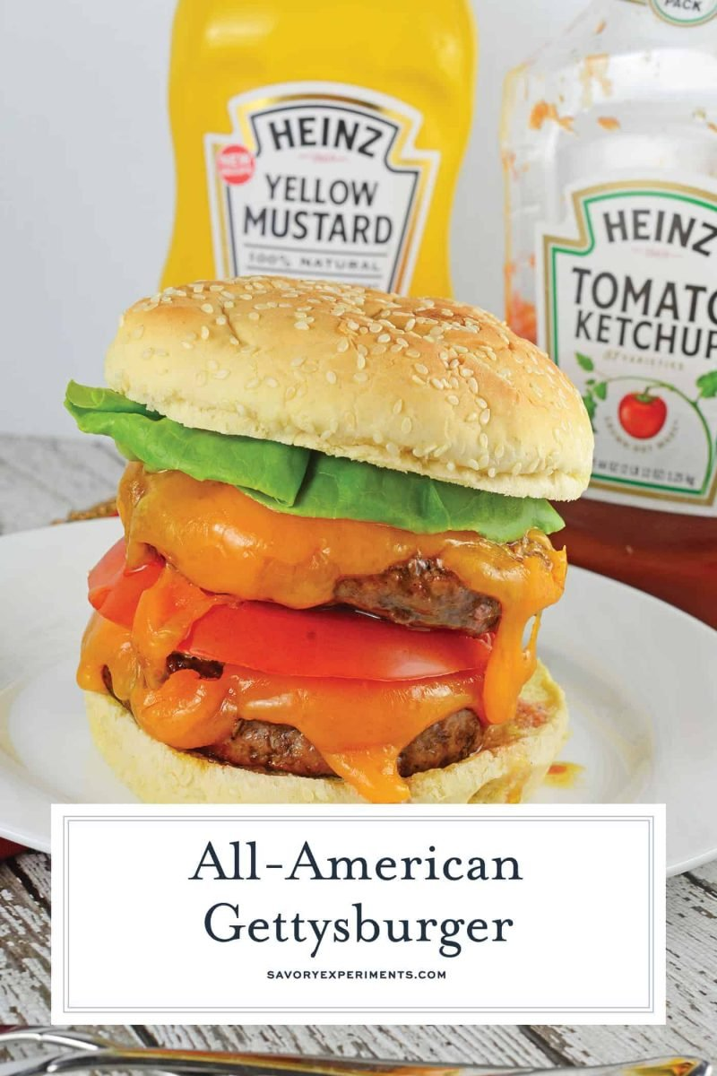 Do you love Gettysburger? I love Gettysburger! Everyone loves a Gettysburger! #gettysburger www.savoryexperiments.com