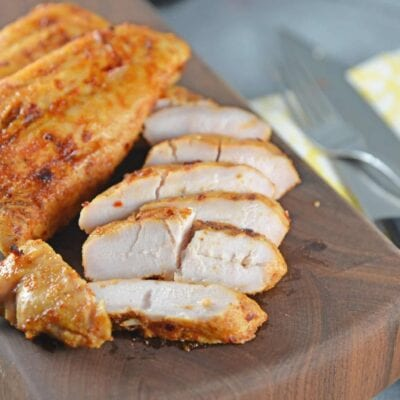 Spicy Honey Grilled Turkey is perfect for throwing on the grill for a quick and easy meal time solution!