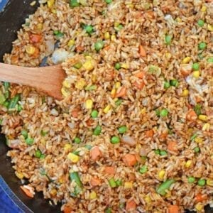 Easy Fried Rice in a skillet