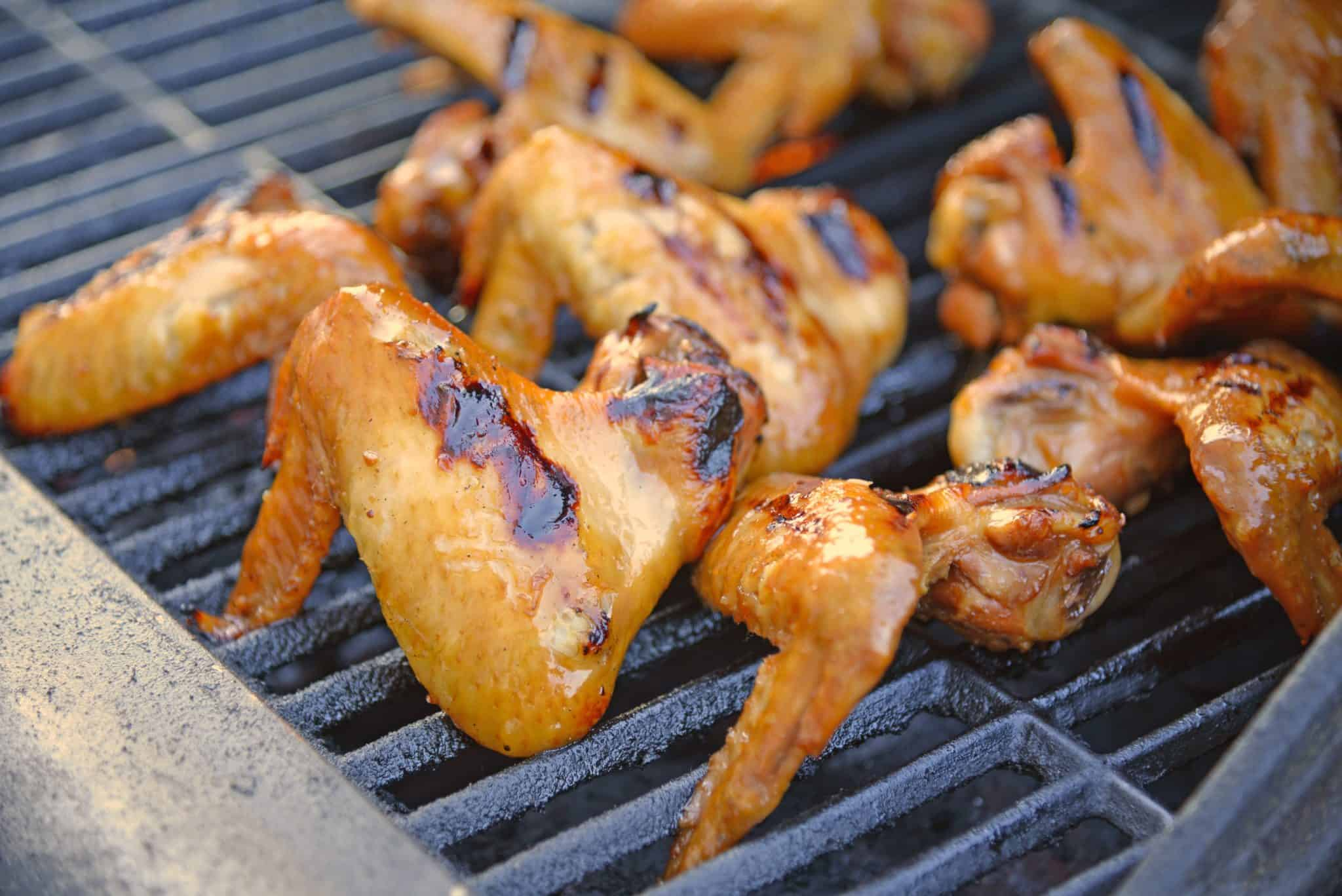 Lemon Garlic Yakitori Wings are marinated in a zesty lemon garlic marinade and grilled to perfection. Serve your grilled wings with classic BBQ side dishes.