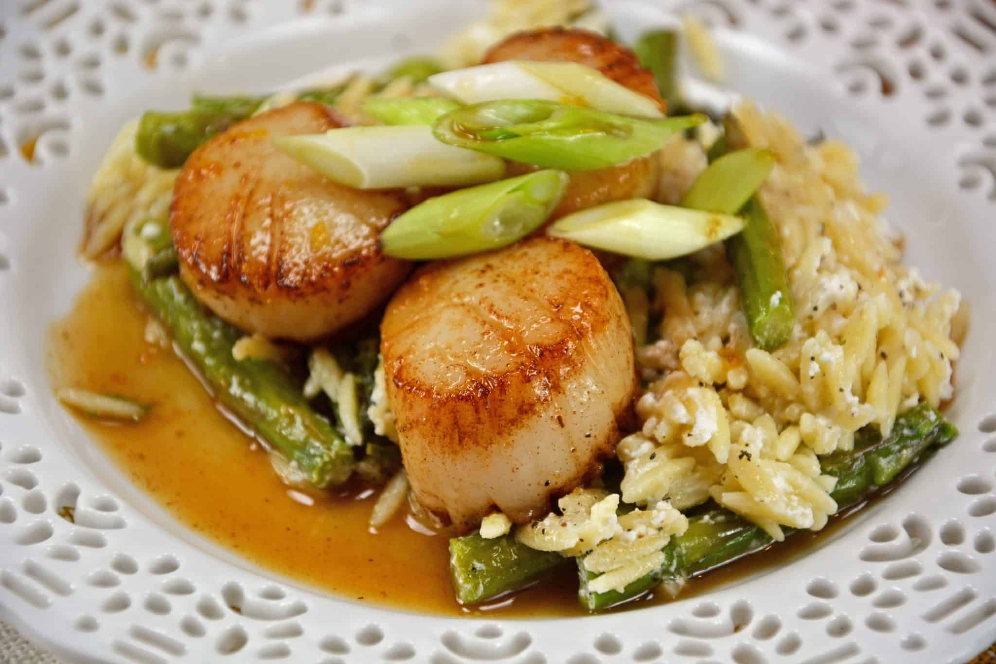Orange Caramel Scallops