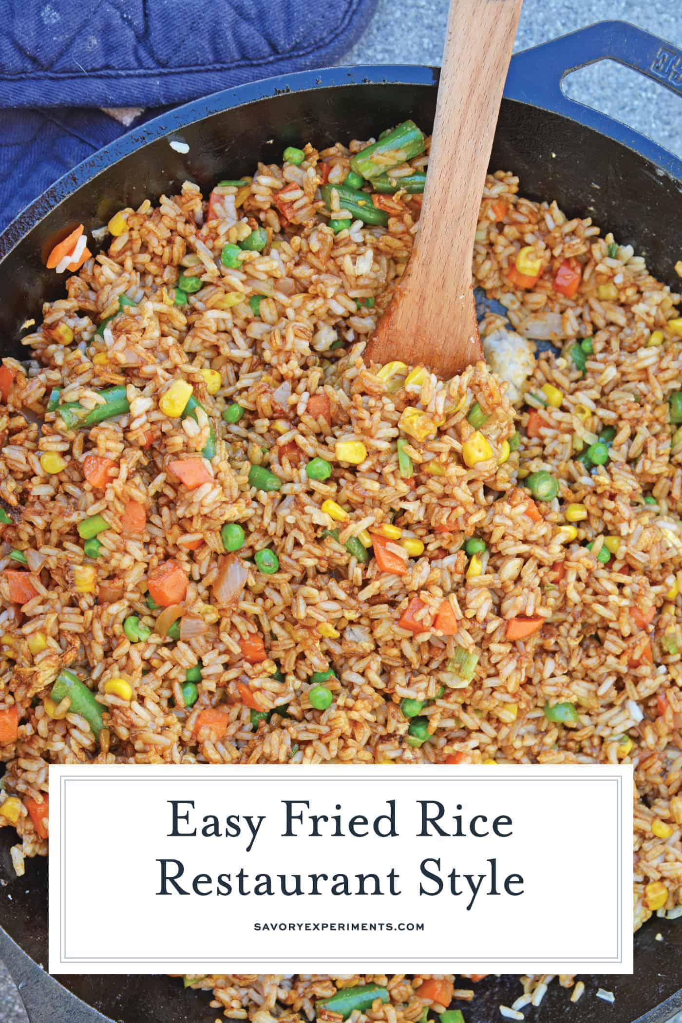 Overhead fried rice