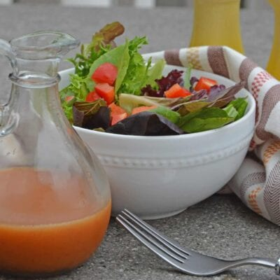 Chipotle Honey Vinaigrette is a sweet and peppery salad dressing that is a copycat of Chipotle Dressing. Make as a marinade and for salads!