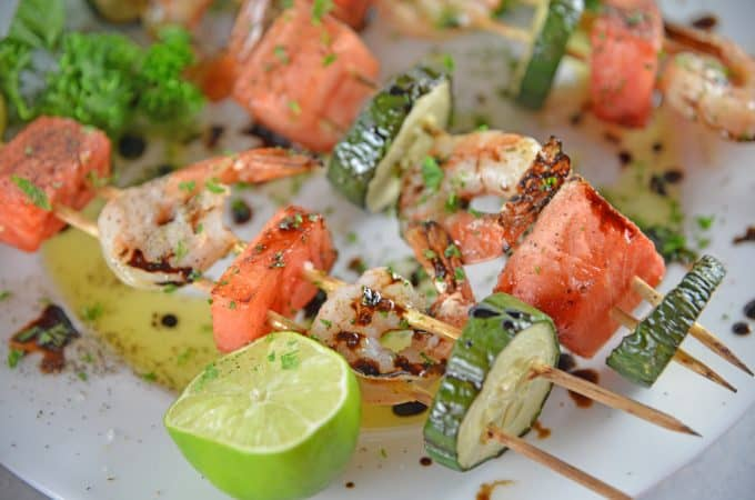 Watermelon Shrimp Kabobs
