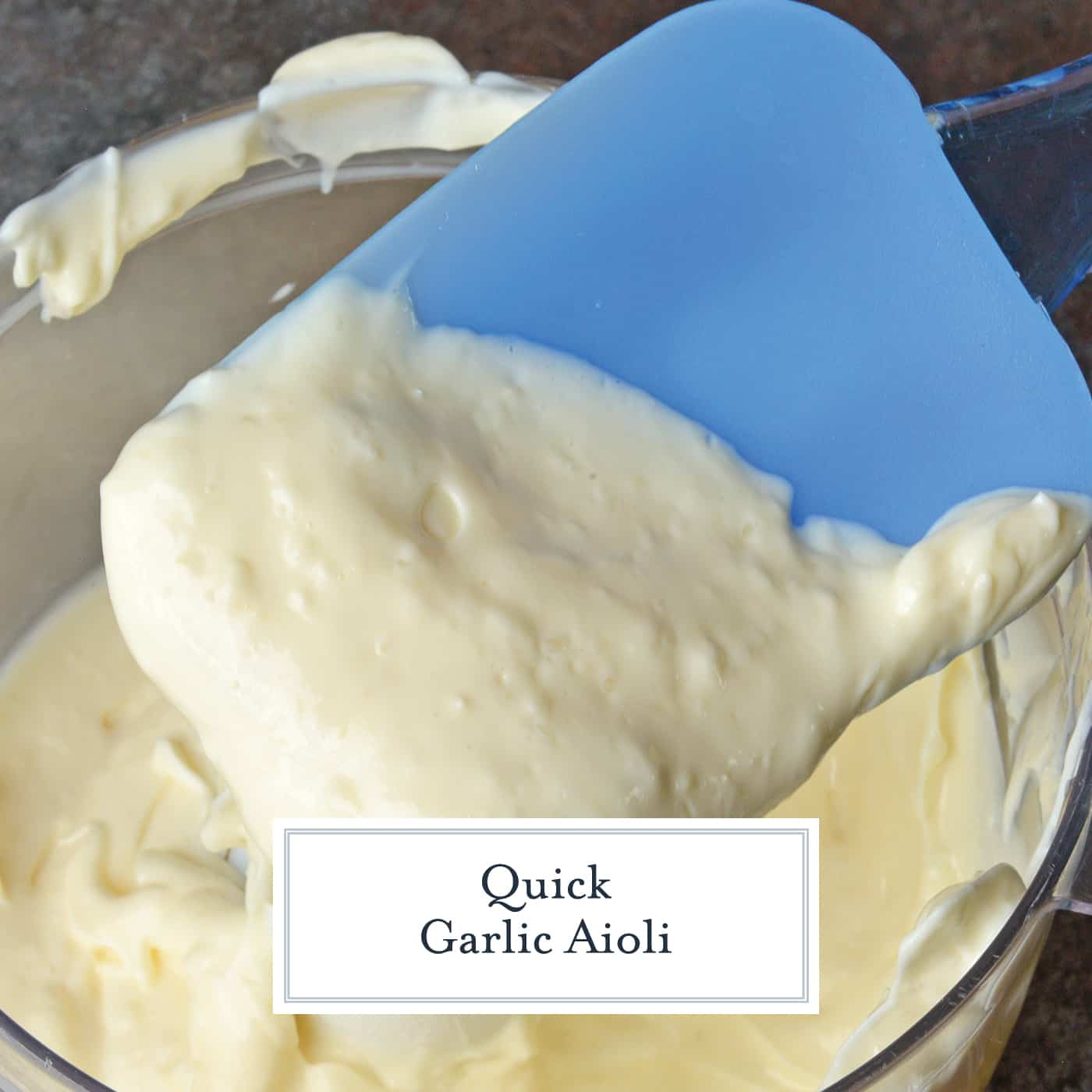 Quick Garlic Aioli is one of the easiest ways to punch up any dish or meal. Make this simple sauce in less than 5 minutes! #aiolirecipes #garlicaioli www.savoryexperiments.com