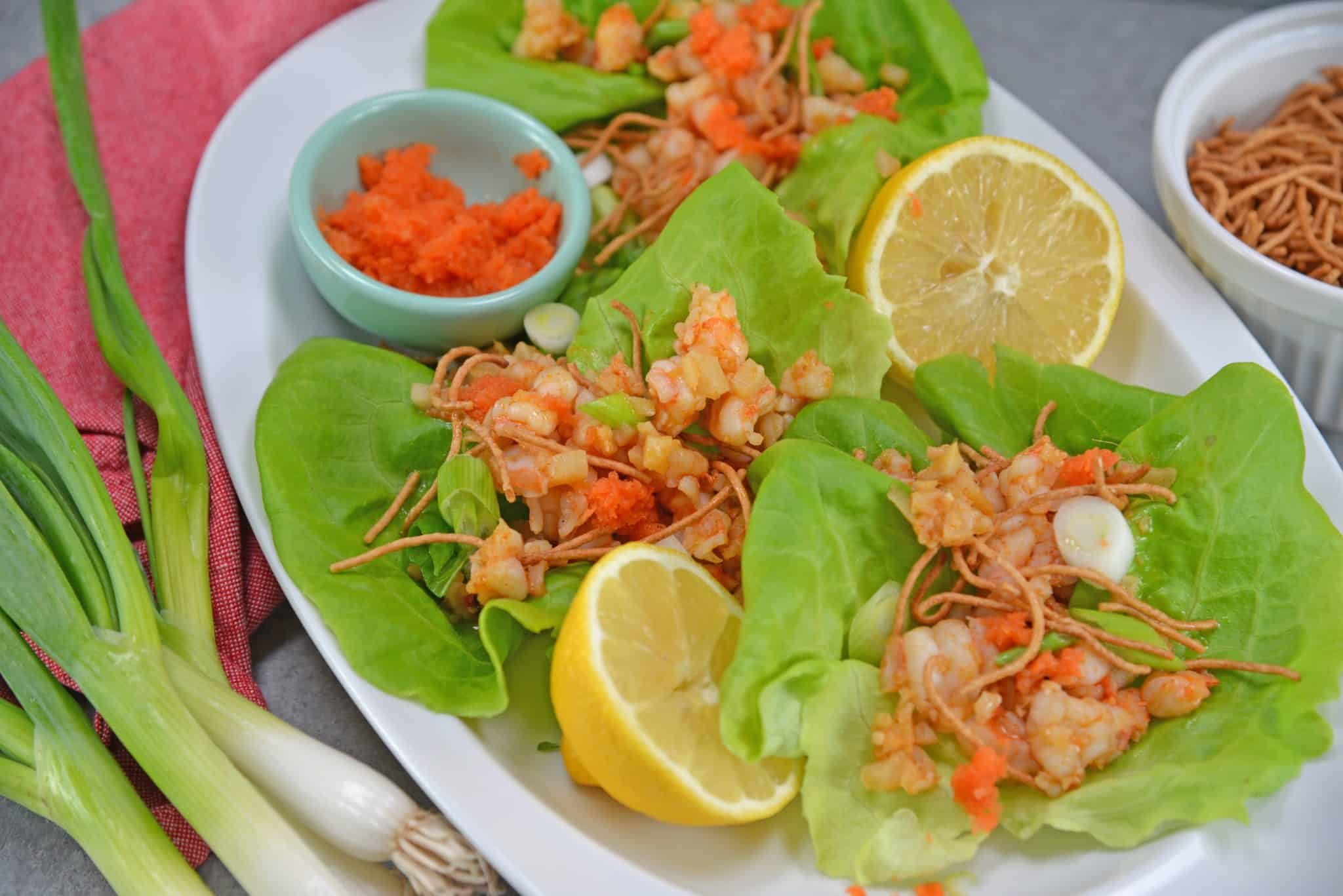 Ginger Shrimp Lettuce Wraps Easy Lettuce Wrap Recipe