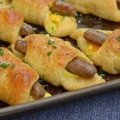 Look no further for a quick breakfast idea! Sausage Crescent Rolls are an easy breakfast idea packed with protein. A breakfast of champions!