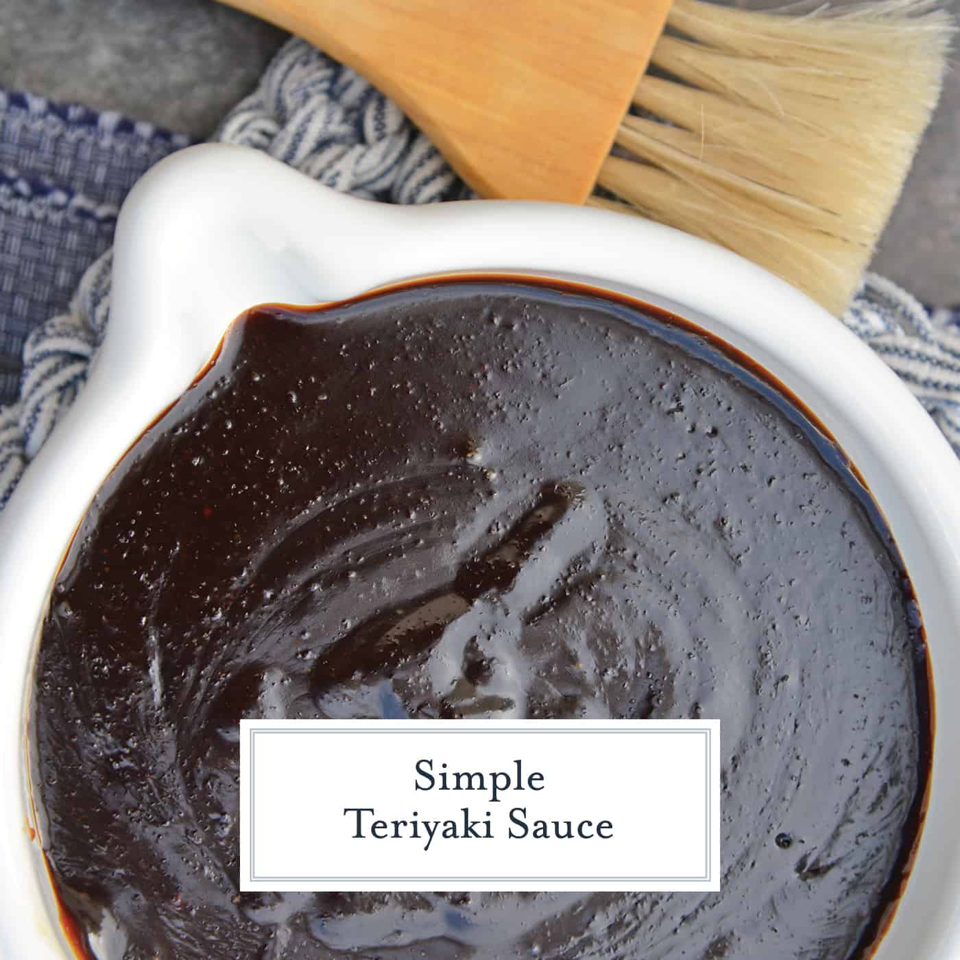 Teriyaki Sauce can be made into an easy teriyaki marinade or glaze. Perfect for teriyaki chicken, easy stir fry recipe or even making homemade beef jerky. #teriyakisauce #chickenteriyaki www.savoryexperiments.com