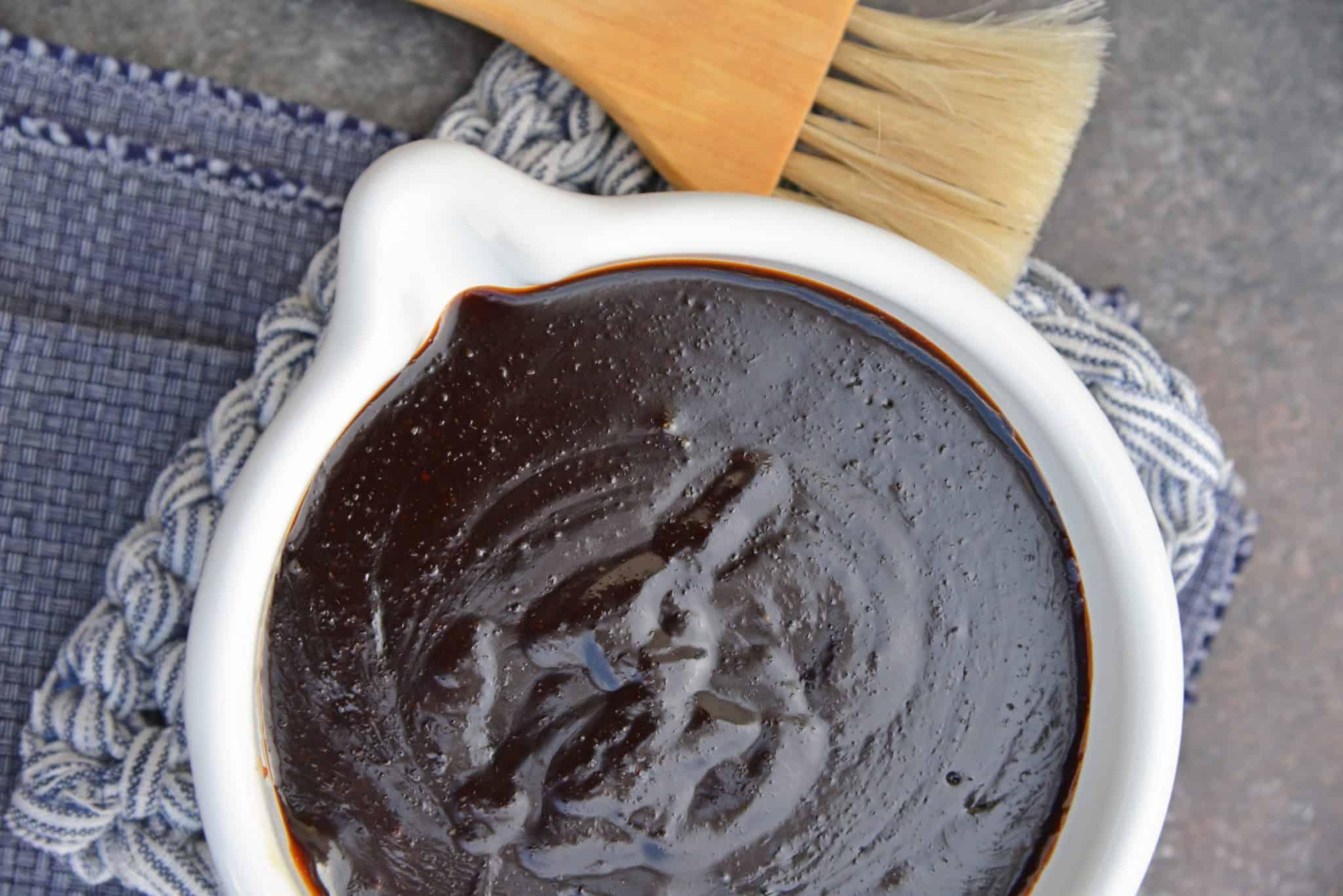 Teriyaki Sauce can be made into an easy teriyaki marinade or glaze. Perfect for teriyaki chicken, easy stir fry recipe or even making homemade beef jerky. #teriyakisauce #chickenteriyaki www.savoryexperiments.com