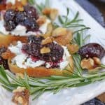 Balsamic Cherry Crostinis