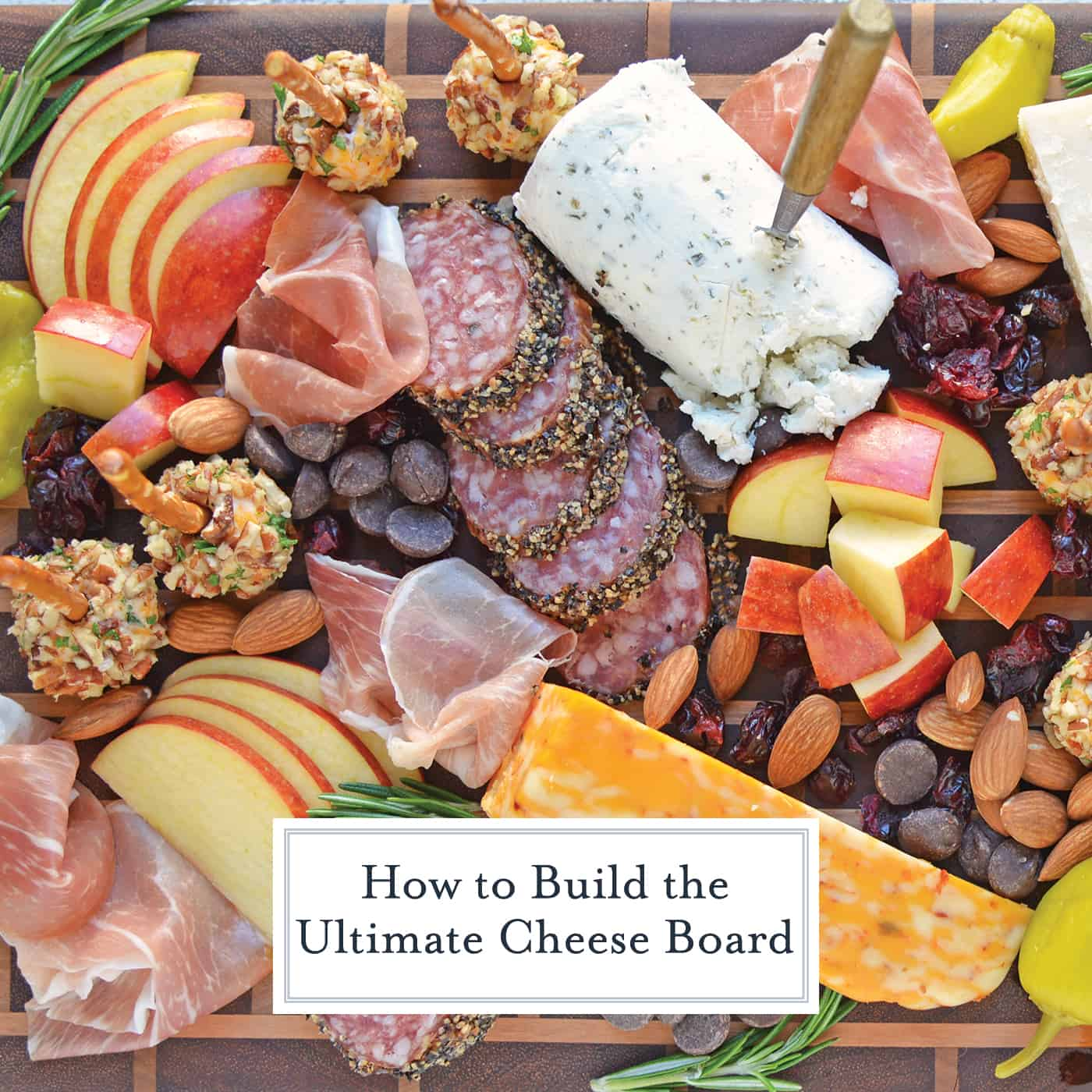 Tips for building the ultimate cheese board, the perfect easy party appetizer that requires no cooking! Ideas for meat, cheese and accompaniments. #cheeseboard #cheeseplatter www.savoryexperiments.com