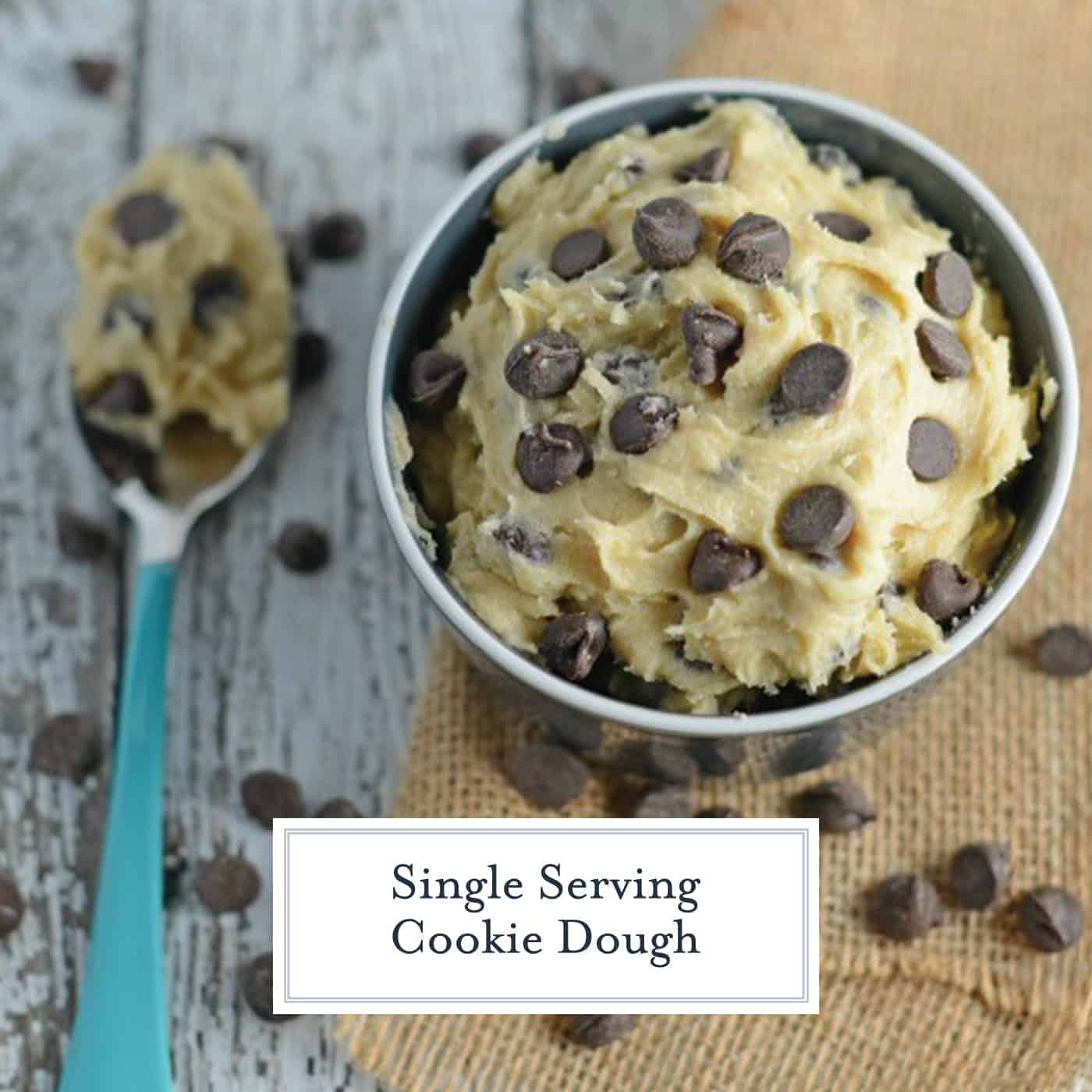 Edible Cookie Dough in a Bowl