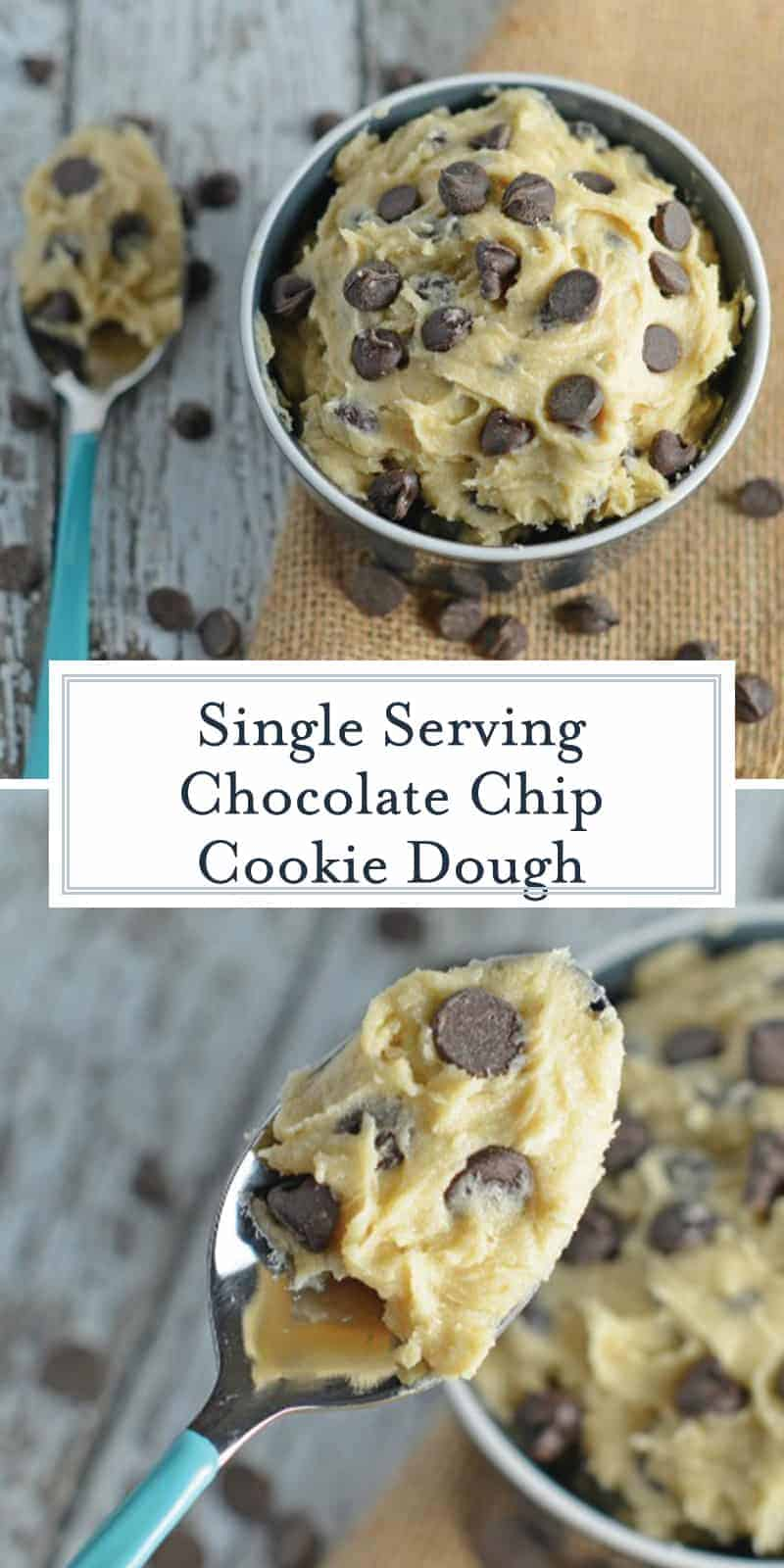 Edible Cookie Dough and Homemade Chocolate Chip Cookie Dough for Pinterest