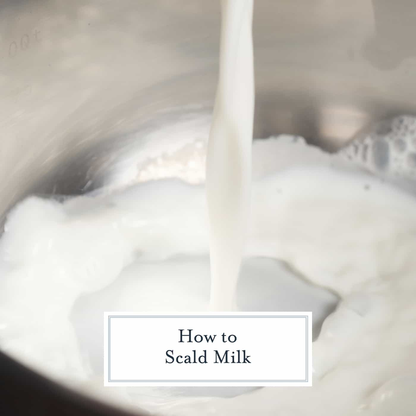 Milk Pouring into a pan to scald