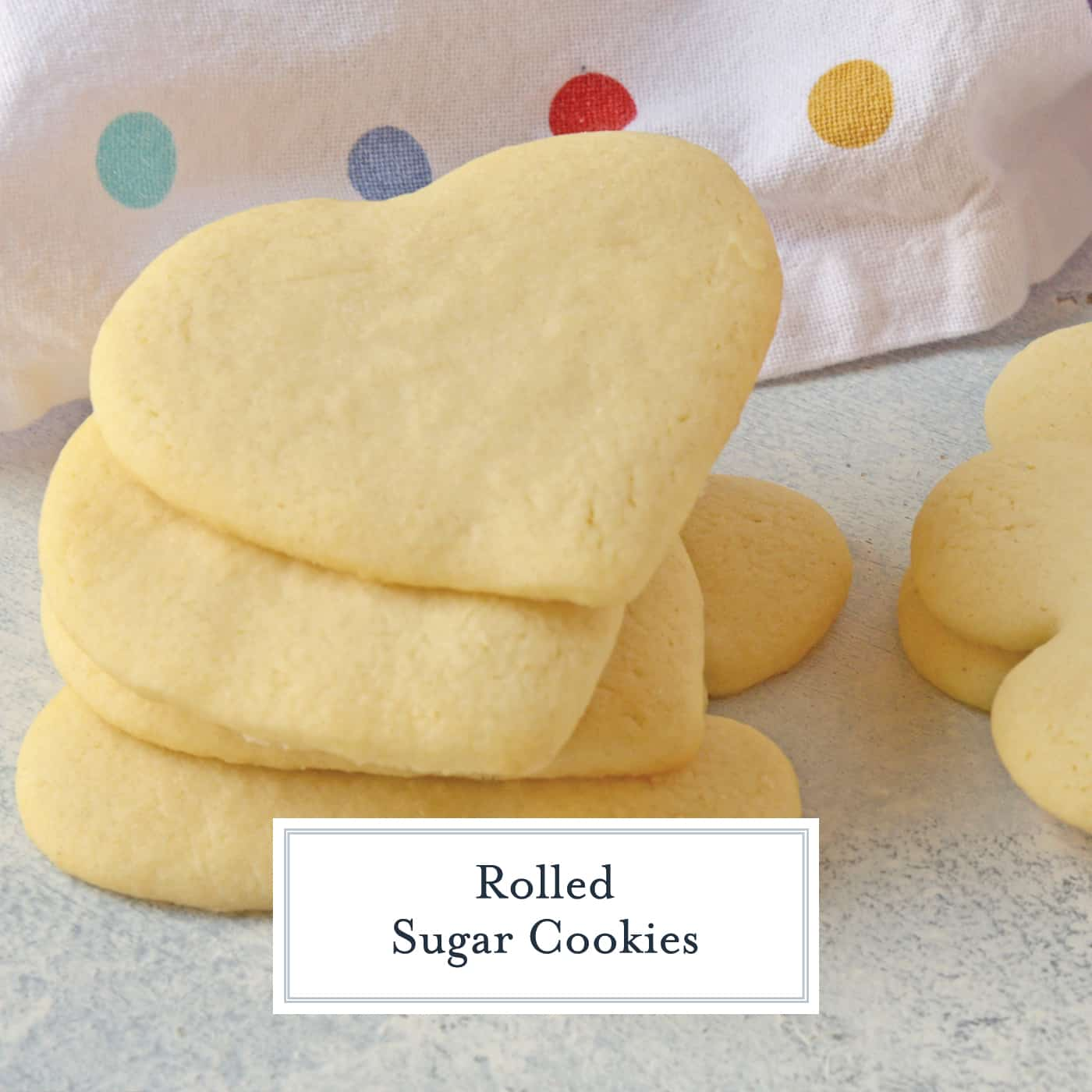 The best sugar cookie dough recipe for Rolled Sugar Cookies out there! Won't lose shape when baked, great flavor and easy to make and roll out! #rolledsugarcookies #sugarcookiecutoutrecipe #homemadesugarcookies www.savoryexperiments.com