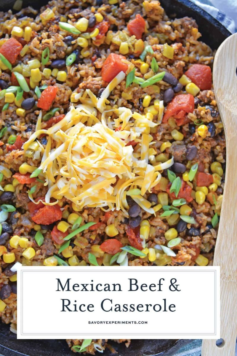 Mexican Beef and Rice Casserole for Pinterest