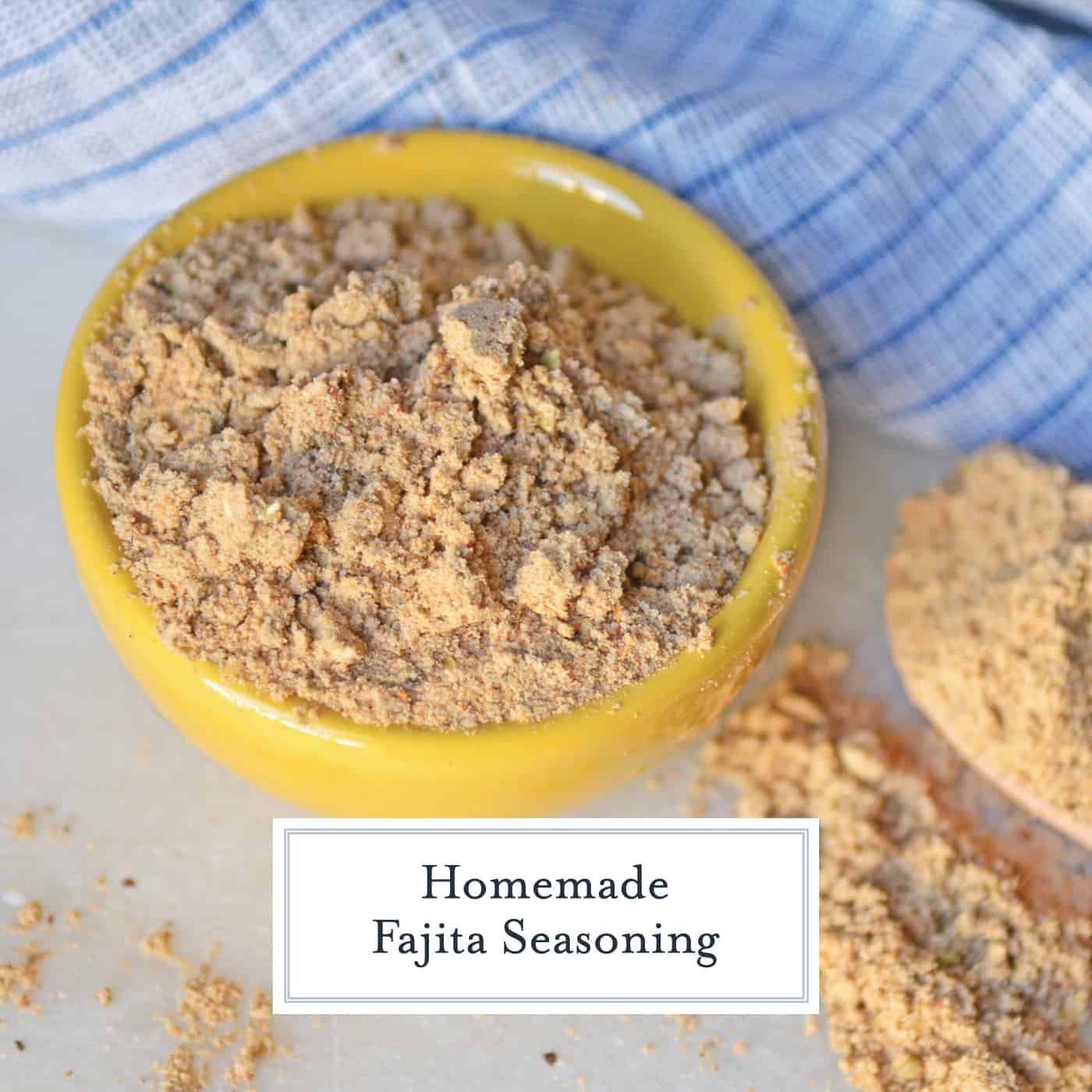 Homemade Fajita Seasoning is easy to make with spices you already have in your pantry. Control salt, sugar and heat by making your own for the best fajitas! #fajitaseasoning #fajitarecipe www.savoryexperiments.com