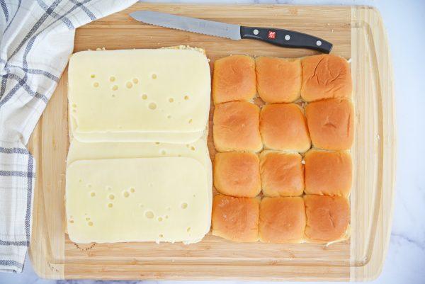 swiss cheese on hawaiian slider rolls