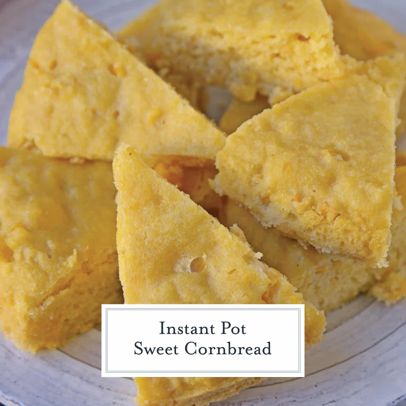 Instant Pot Sweet Cornbread is an easy cornbread recipe made with honey making it both sweet and moist. Made in the Instant Pot, it cooks in half the time! #cornbreadrecipe #instantpotrecipes #sweetcornbread www.savoryexperiments.com