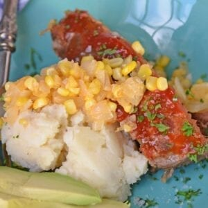 Southwestern Meatloaf is a classic meatloaf recipe with a southwestern spin. Crushed tortilla chips and bottled salsa give this easy meatloaf a zesty edge. #meatloafrecipe www.savoryexperiments.com
