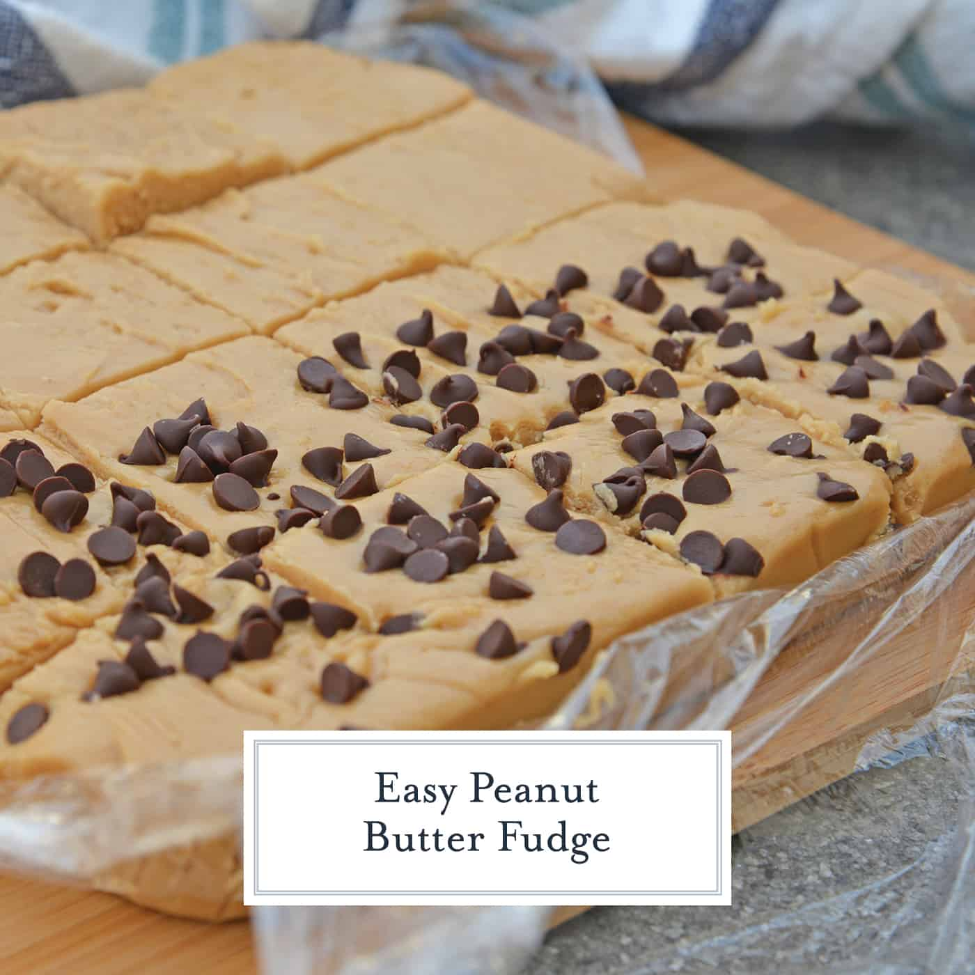 Easy Peanut Butter Fudge is rich, decadent and perfectly creamy. Simple instructions for how to make fudge in just 10 minutes! #peanutbutterfudge #easyfudge #fudge www.savoryexperiments.com