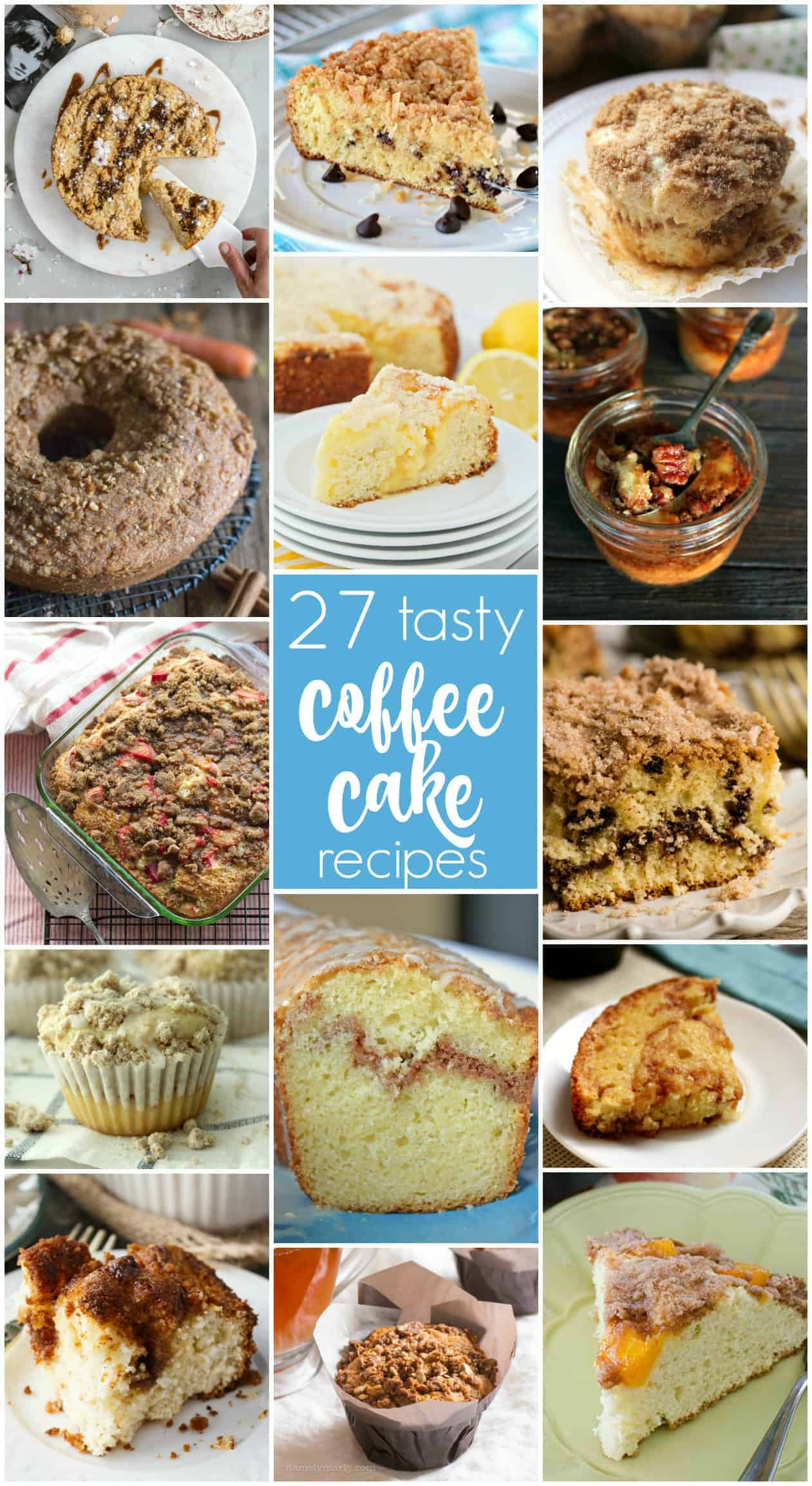 collage of coffee cakes