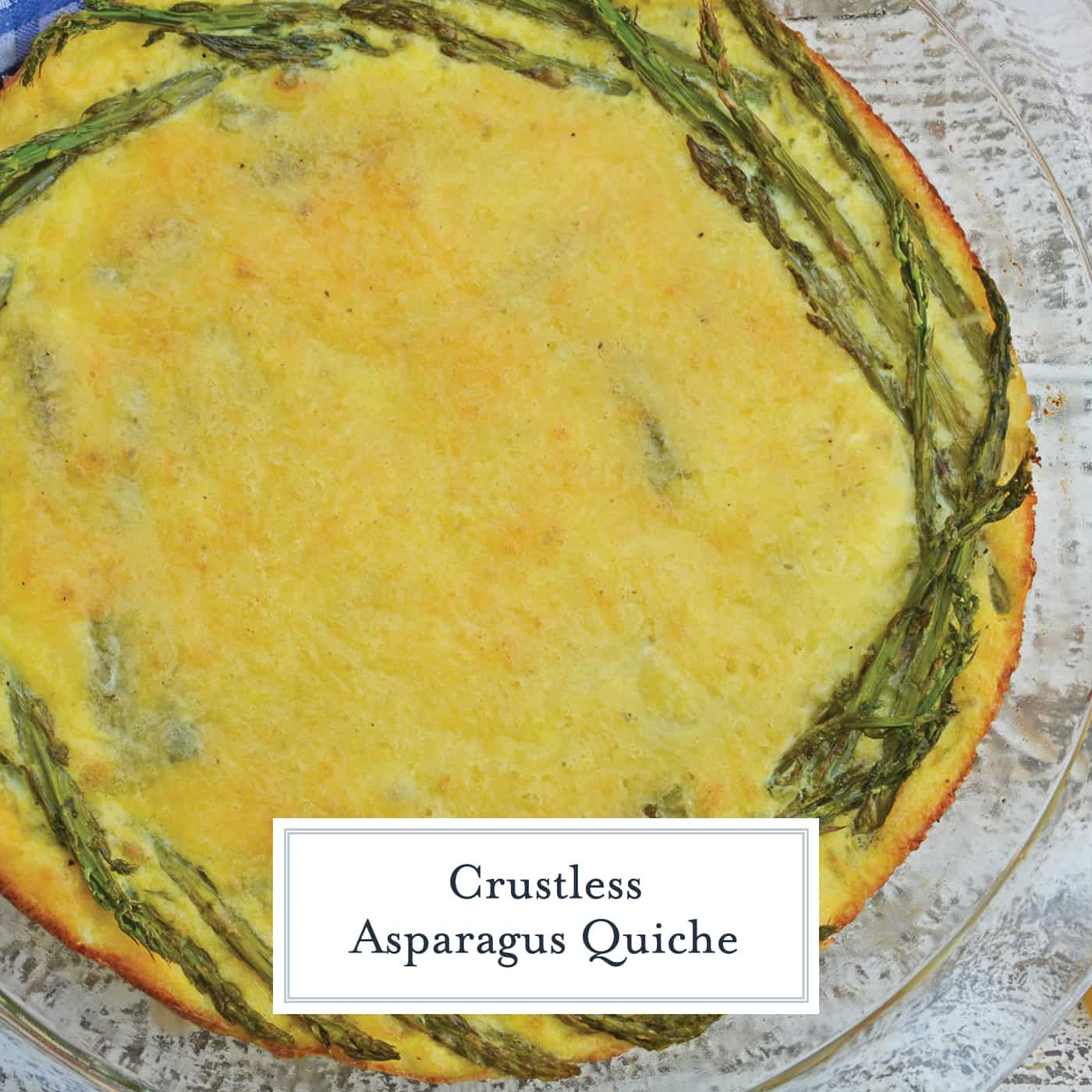 This crustless quiche recipe is one of the best asparagus recipes. An asparagus quiche would be a great addition to your next breakfast, brunch or lunch! #asparagusquicherecipe #crustlessquicherecipe #asparagusrecipes www.savoryexperiments.com