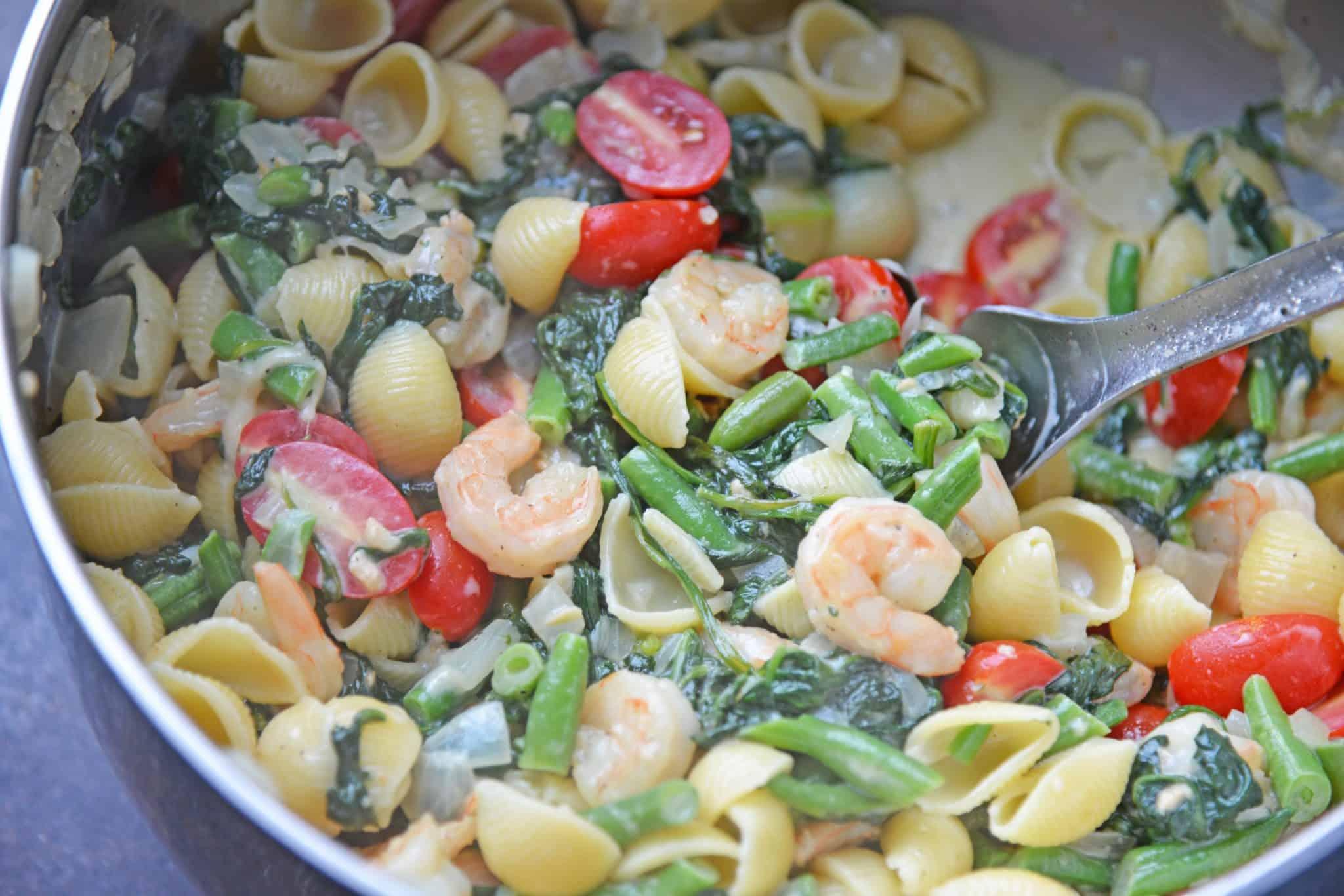 creamed spinach pasta