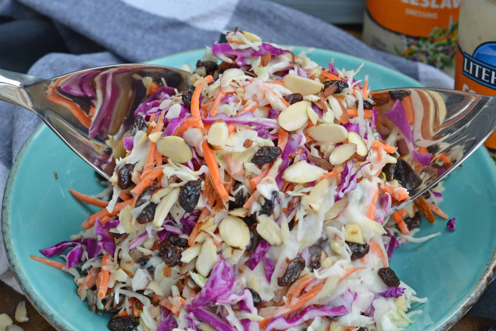creamy coleslaw with almonds