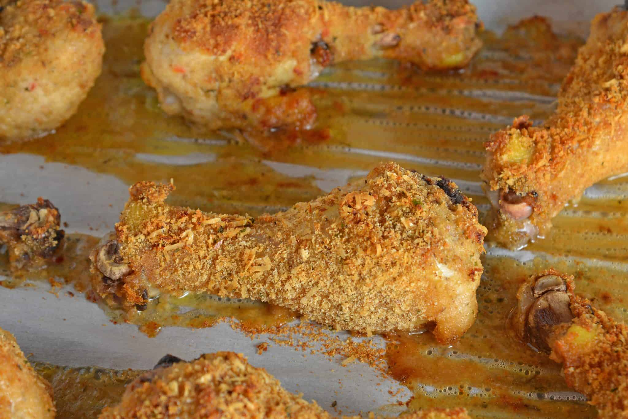 Crispy Baked Chicken is a melt-in-your-mouth oven fried chicken with tongue-tingling flavor that will leave you craving more. #crispybakedchicken #ovenbakedchicken #bestovenfriedchicken www.savoryexperiments.com
