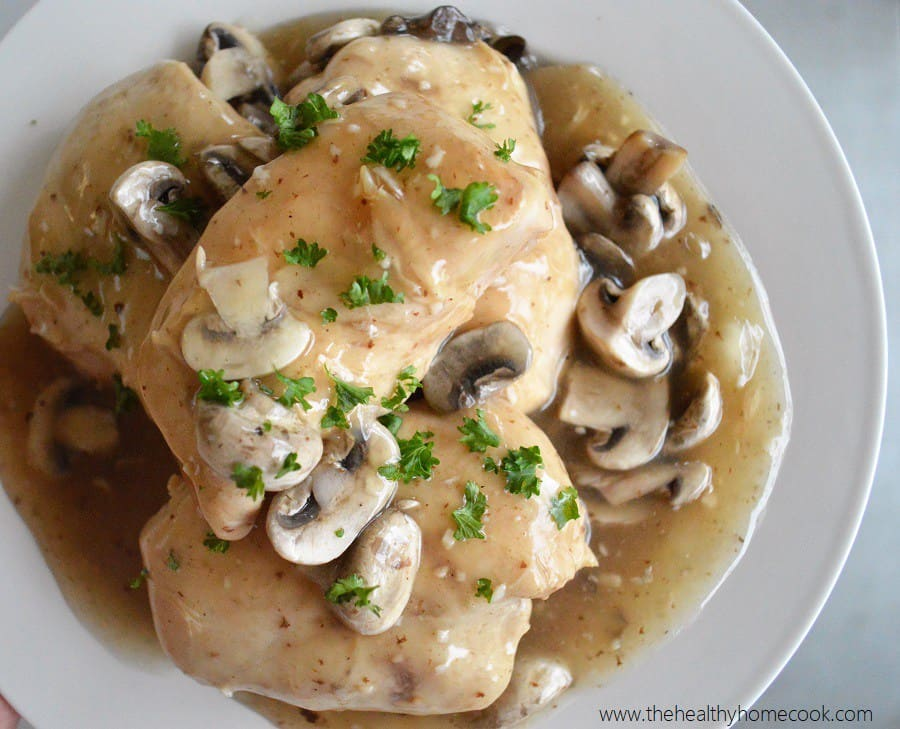 Chicken marsala with mushrooms and gravy