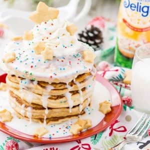 Sugar cookie pancakes with frosting