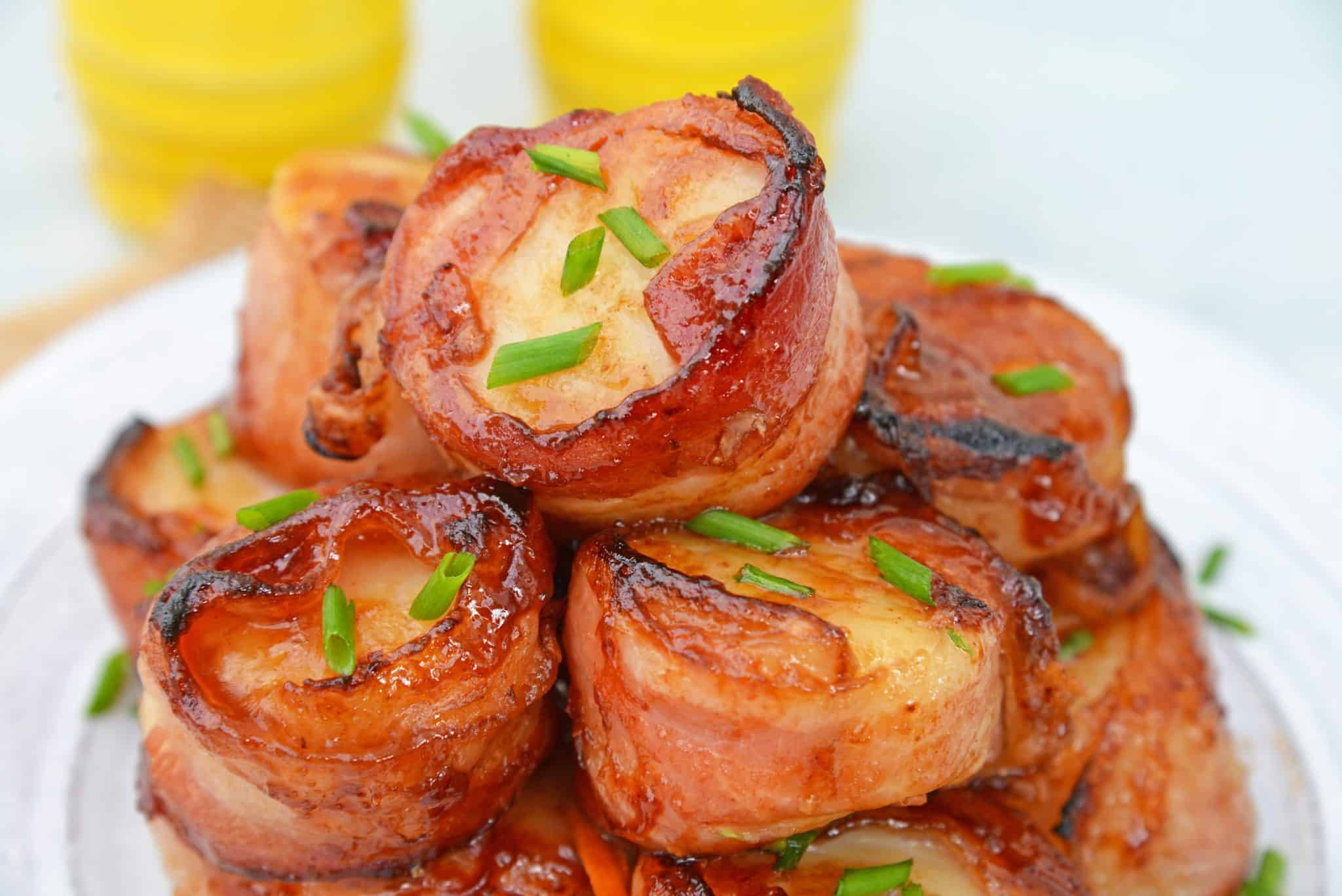 Bbq Bacon Wrapped Scallops How To Make Baked Scallops