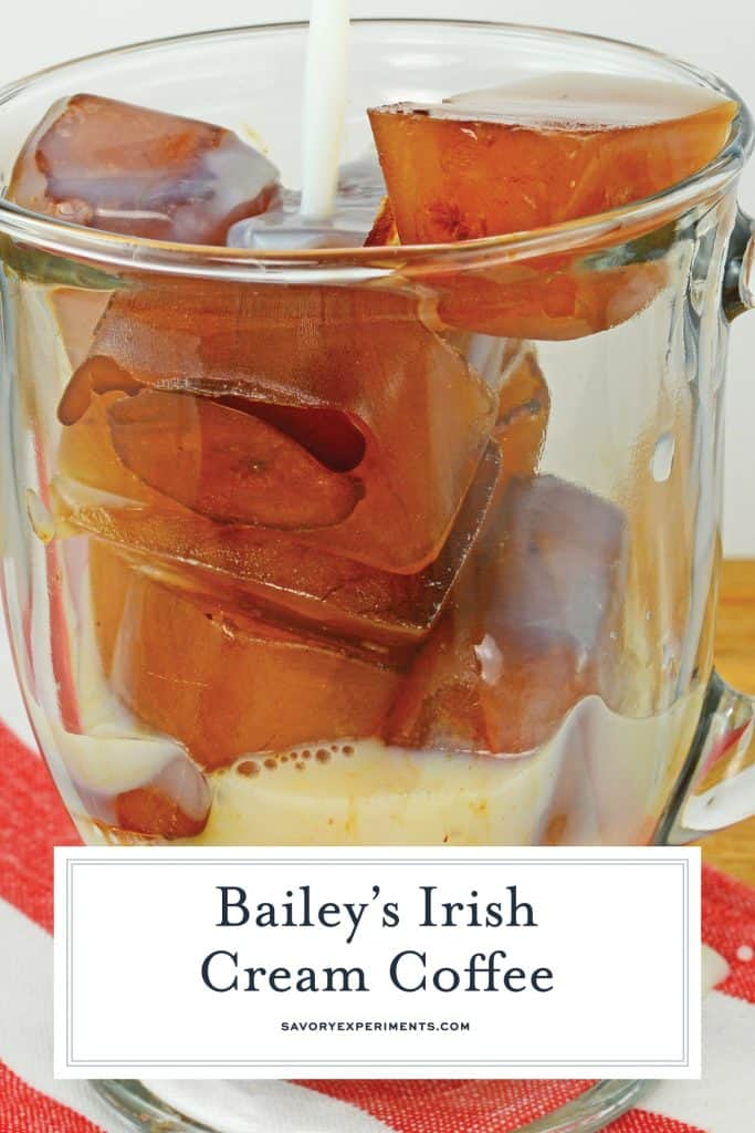 Bailey's Irish Cream Coffee is sweet and comforting Irish cream drink recipe. This coffee cocktail perfect for busy mornings or brunch year-round. #baileysirishcreamcoffee #irishcreamdrinkrecipes #coffeecocktails www.savoryexperiments.com
