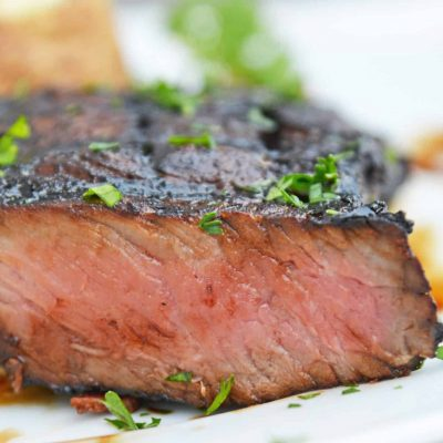 The BEST Easy Steak Marinade will be the only marinade you ever use in the future! You only need 3 ingredients and 30 minutes for this steak marinade. #steakmarinade #beststeakmarinade www.savoryexperiments.com
